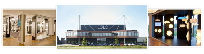 Eglo showroom met 3000 vierkante meter verlichting